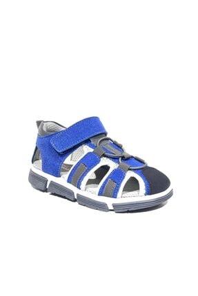 Toddler 2905-1 Ortopedik Hakiki Deri Erkek Çocuk Mavi Sandalet 1
