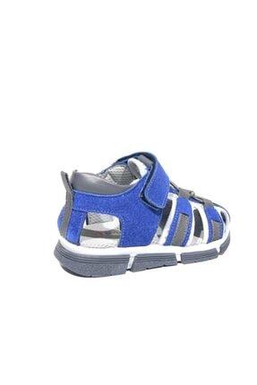 Toddler 2905-1 Ortopedik Hakiki Deri Erkek Çocuk Mavi Sandalet 3