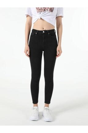 Colin's Kadın Edding Wash Super Slim Fit Yüksek Bel 76 Diana Denim Jean Pantolon 2