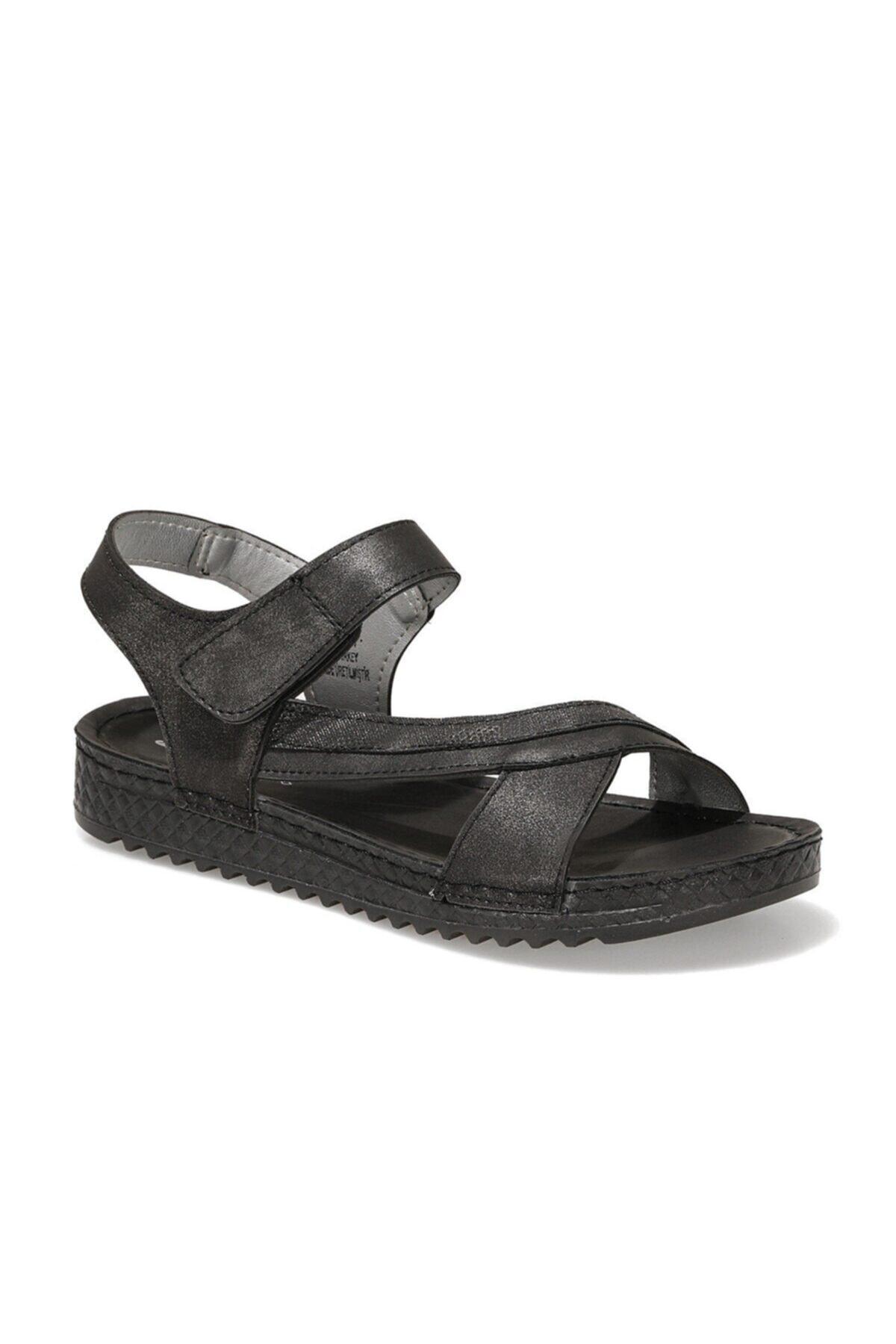 161981.z1fx Siyah Kadın Comfort Sandalet