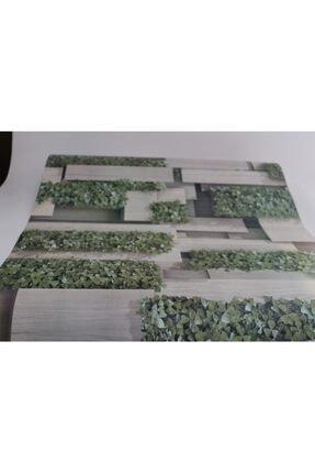 Zümrüt Çiçekli Taş Desen Duvar Kağıdı 5,33 M² 4