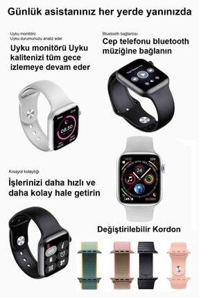 Black Dice Iphone Ve Android Uyumlu Watch 6 Plus Son Nesil Beyaz Yan Düğme Ileri Geri Ve Yakınlaştırma Aktif 3