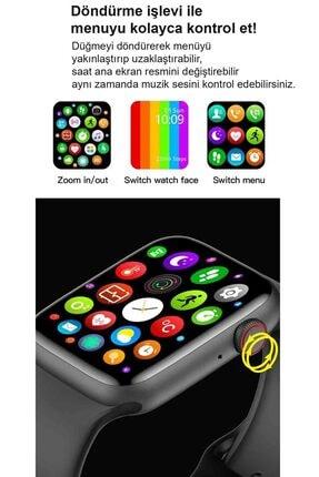Black Dice Iphone Ve Android Uyumlu Watch 6 Plus Son Nesil Siyah Yan Düğme Ileri Geri Ve Yakınlaştırma Aktif 2