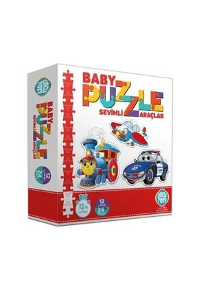 Circle Toys Baby Puzzle Sevimli Araçlar 2