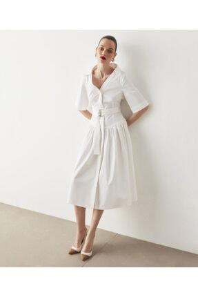 İpekyol Kuşaklı Poplin Elbise 2
