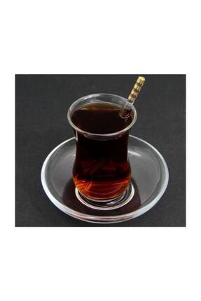 Fusha Gold Detaylı Yaldızlı Lüx Cam Çay Kaşığı 6'lı 3