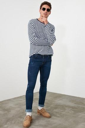TRENDYOL MAN Indigo Erkek Skinny Tırmıklı Jeans TMNSS20JE0331 1
