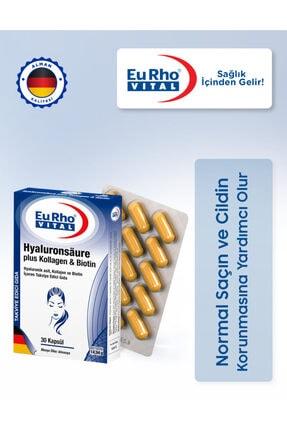Eurho Vital Eurho® Vital Hyaluronik Asit, Kollajen Ve Biotin Içeren Takviye Edici Gıda 0