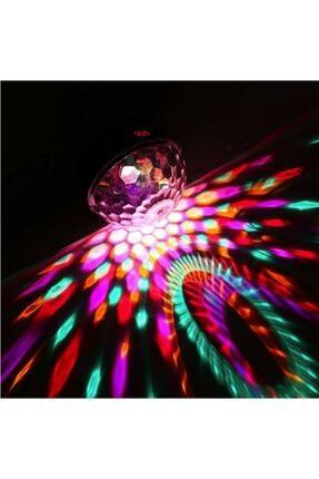 BAY MİA Küre Disko Topu Müzik Çalar Renkli Lazer Işıklı Bluetooth Sese Duyarlı Işıklar Disko Parti Işığı 4