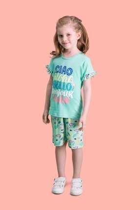 Picture of Aloha Mint Yeşili Kız Çocuk Bermuda Takım