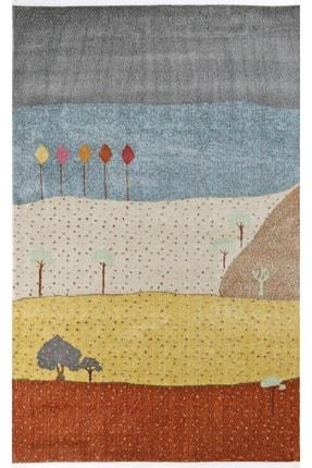 Nakka Halı Renkli Desenli Eskitme Halı Vıntage Koleksiyon Al25a 0