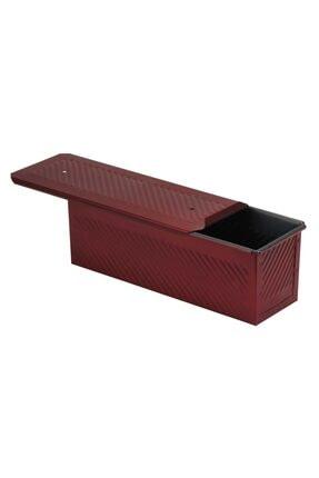 EKMAŞ Kırmızı Ekmek Kalıbı, 10x10x30 Cm 0