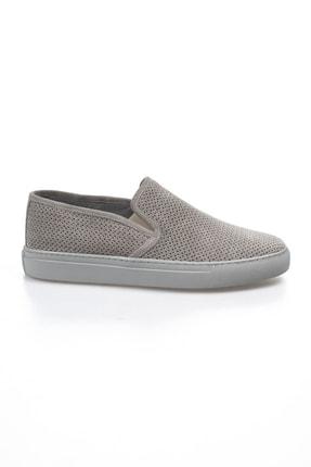 Alba Açık Gri Hakiki Deri Delikli Erkek Ayakkabı 0