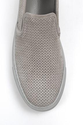 Alba Açık Gri Hakiki Deri Delikli Erkek Ayakkabı 1