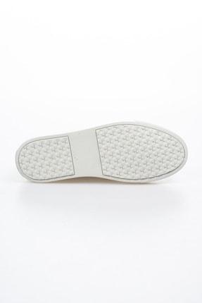 Alba Açık Gri Hakiki Deri Delikli Erkek Ayakkabı 4
