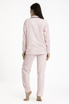TAMPAP Kadın Düğmeli Pijama Takımı Puantiyeli 120 1