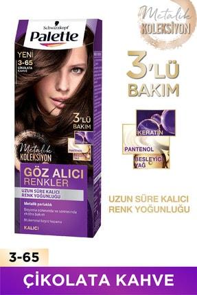 Palette Göz Alıcı Renkler 3-65 Çikolata Kahve  X 2 Adet 0
