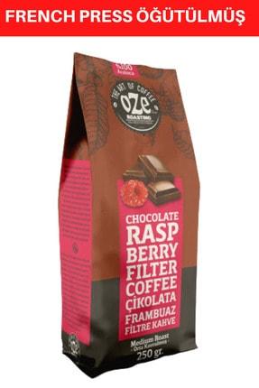 Oze Çikolatalı Ve Frambuaz Aromalı Filtre Kahve 250 gr. (French Press Için Öğütülmüş ) 0