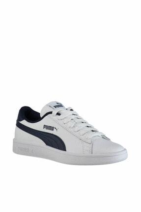 Puma Smash V2 L Jr Beyaz Kadın Sneaker 100346458 1