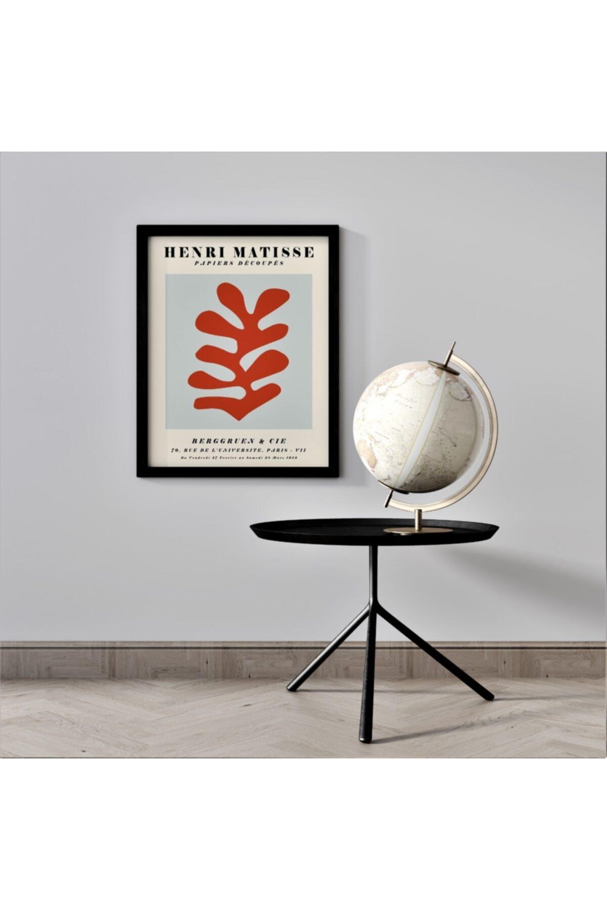 Henri Matisse 'papiers Decoupes' Paris Mdf Çerçeveli Modern Ahşap Tablo