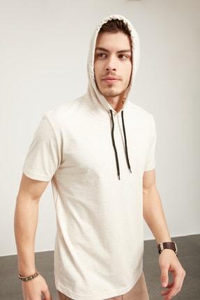 Tena Moda Erkek Kar Melanj Kapüşonlu Düz Tişört 1