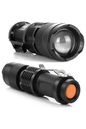 Kama Şarjlı Zoomlu Cep Feneri Km-87 0