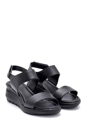 Derimod Kadın Siyah Deri Kalın Tabanlı Sandalet 2