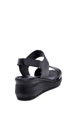 Derimod Kadın Siyah Deri Kalın Tabanlı Sandalet 3