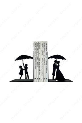 ohuga Metal Kitap Tutucu Ilk Aşk Figürlü Kitap Desteği, Dekoratif Kitaplık 0