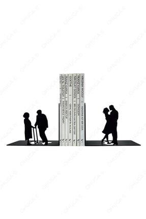 """ohuga Metal Kitap Tutucu """"sonsuz Aşk Figürlü Kitap Desteği, Dekoratif Kitaplık 0"""