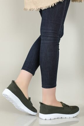 CARLA BELLA Günlük Rahat Yeşil Kadın Ayakkabı S-041 2
