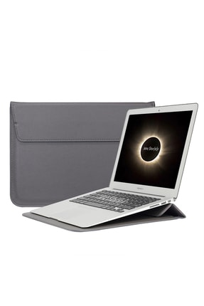 "MacBook Retina 15"" 15.4 Uyumlu Deri Çanta Kılıf Sleevebag Pu Stand 1060 resmi"