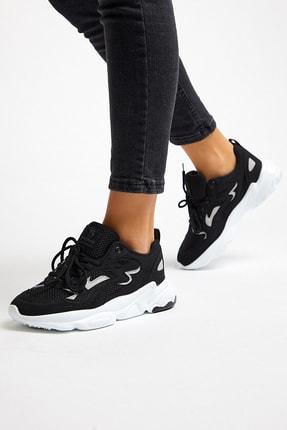 Tonny Black Unısex Siyah Beyaz Spor Ayakkabı Tb251 1