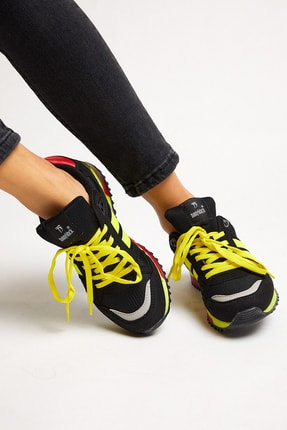 Tonny Black Siyah Sarı Unisex Sneaker TB282-0 3