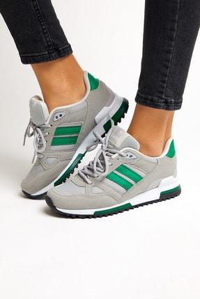 Tonny Black Unısex Gri Yeşil Spor Ayakkabı 3