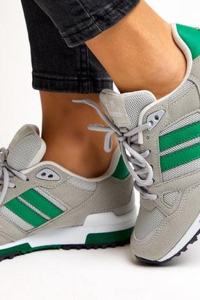 Tonny Black Unısex Gri Yeşil Spor Ayakkabı 4