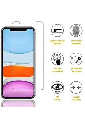 seMalp Iphone 11 Pro Uyumlu Şeffaf  9h Sertlikte Temperli Ekran Koruyucu Cam 3