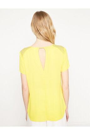 Koton Kadın Sarı Bluz 7YAK63743EW 3