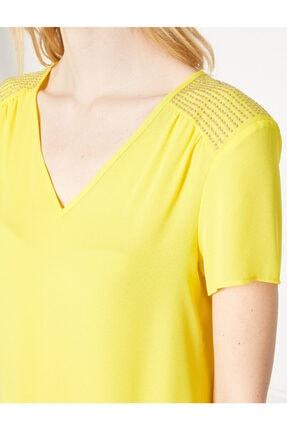 Koton Kadın Sarı Bluz 7YAK63743EW 4