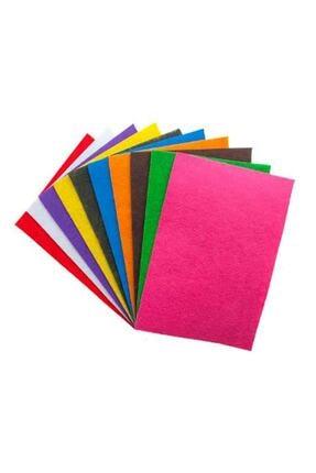 Magic Hobby 10 Adet Keçe Karışık Renk - A4 Boyutunda 20x30 Cm 0