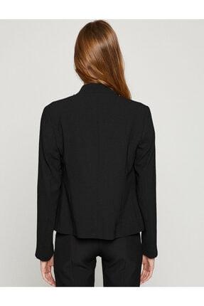 Koton Kadın Siyah Ceket 8YAK52422UW 4