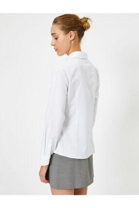 Koton Kadın Beyaz Uzun Kollu Gömlek 3
