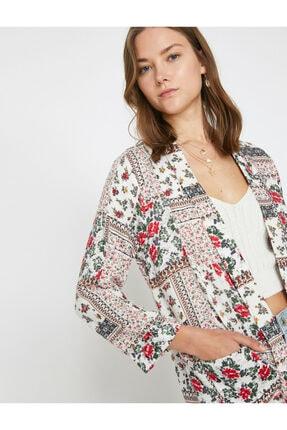 Koton Kadın Kırmızı Desenli Kimono 9YAK58161CW 1