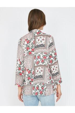 Koton Kadın Kırmızı Desenli Kimono 9YAK58161CW 4
