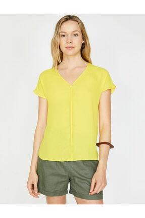 Koton Kadın V Yaka Bluz 2