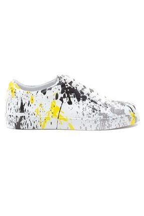 GRADA Kadın Renkli Baskılı Hakiki Deri  Sneaker Ayakkabı 1