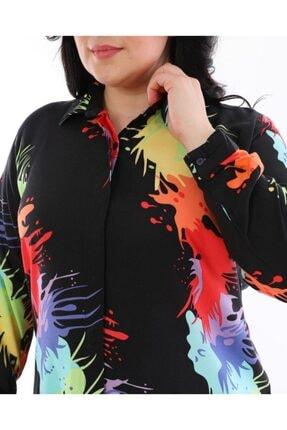 LBB FASHİON Kadın Siyah Tunik Gömlek 3