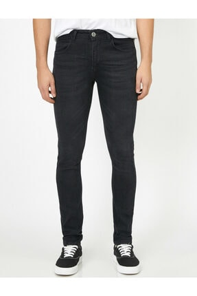 Koton Erkek Siyah Pantolon 0KAM43052MD 2