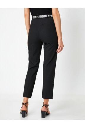 Koton Kadın Siyah Kemer Detaylı Pantolon 3