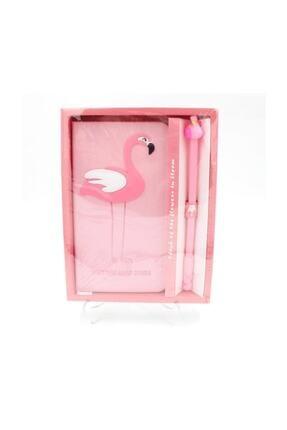 aydpromosyon Flamingo Defter Ve Kalem Seti Pembe Renkli Unicorn Defter 0